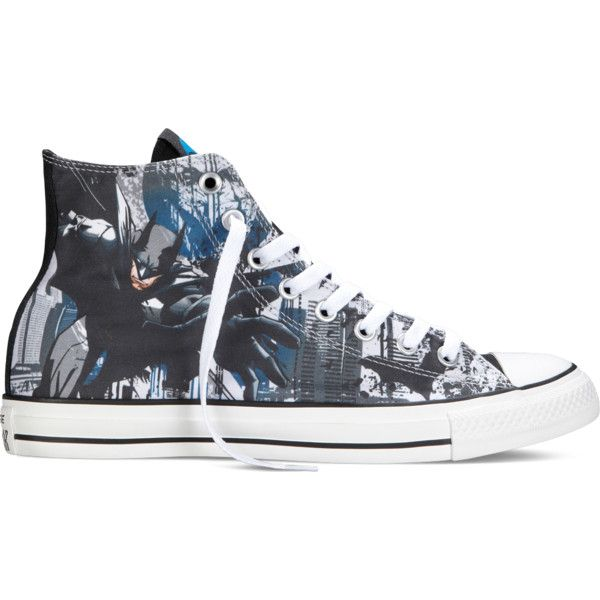 Converse Chuck Taylor DC Comics Batman – blue Sneakers ($40) ❤ liked on Polyvore featuring shoes, sneakers, blue, converse trainers, converse sneakers, converse footwear, blue sneakers and converse shoes