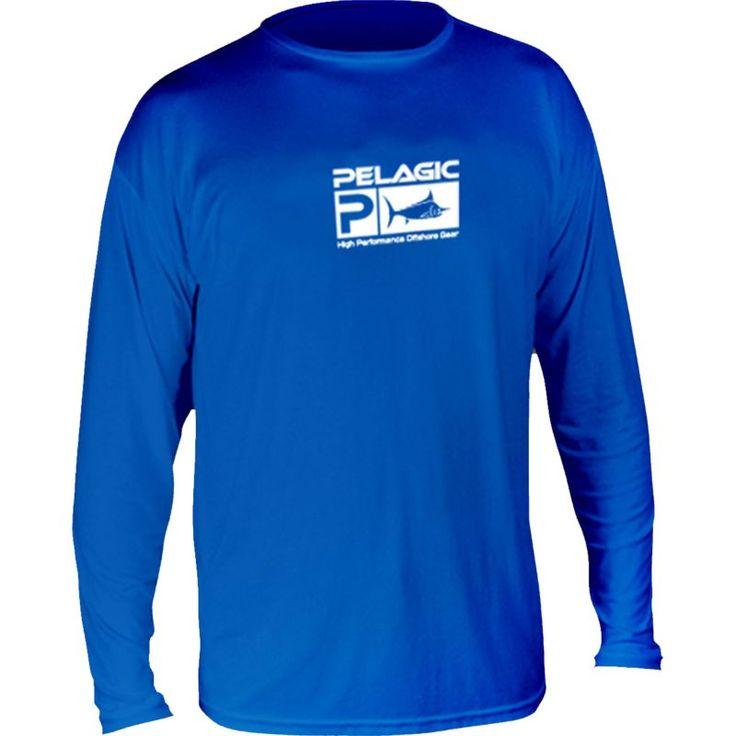 Pelagic Aquatek Long Sleeve Shirt, Men's, Size: Medium, Blue