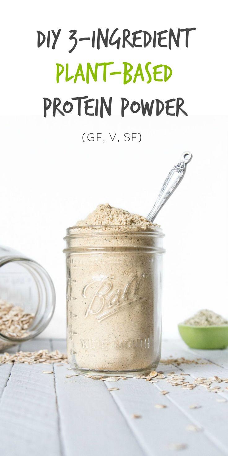 Diy 3 ingredient plantbased protein powder recipe