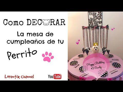 Como decorar la mesa de cumpleaños para tu Perro - YouTube