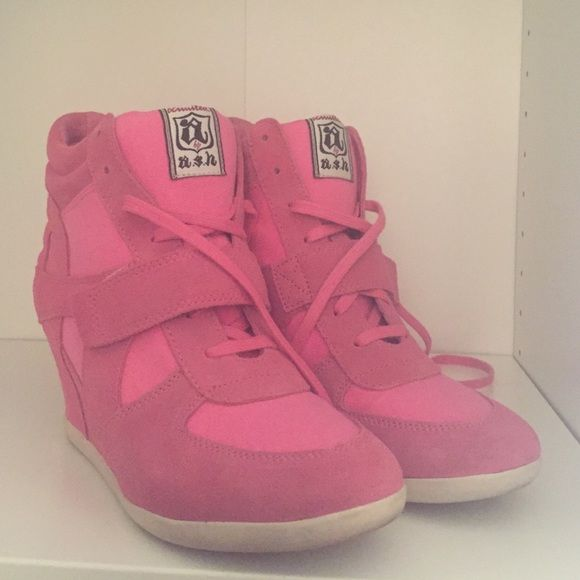 Ash sneaker wedges. Pink Ash sneaker wedges. Excellent condition. Like new (worn only once). Ash Shoes Sneakers