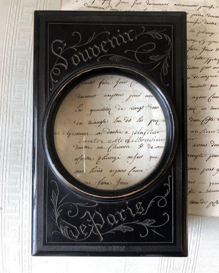 19th C. Souvenir de Paris Graphoscope Magnifier