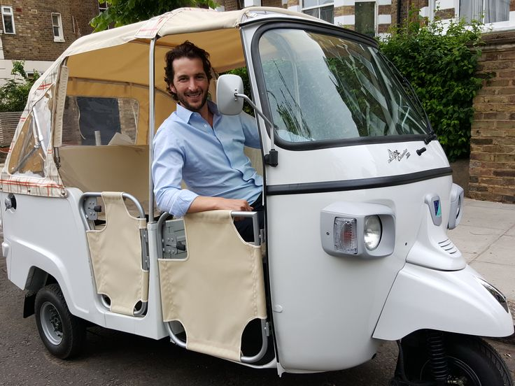 Ape Calessino 200 Tuk Tuk fully convertible also available in Blue & Red