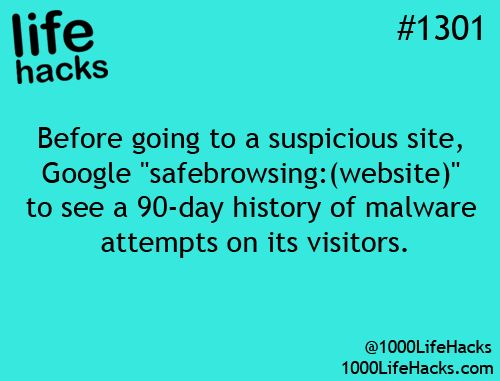 what to do to see before going to a suspicious web site to see if they're using malware on their visitors