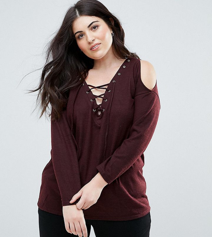 a74dafc4a10 New Look Plus New Look Curve Cold Shoulder Sweater
