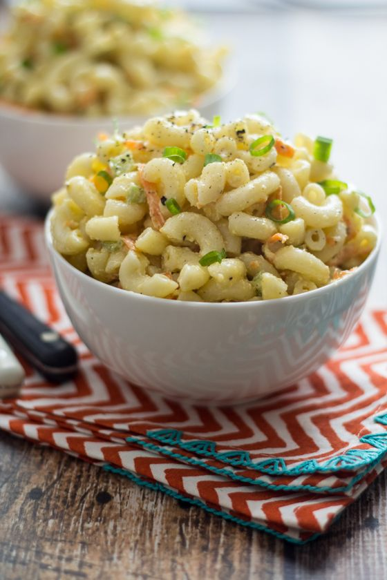 Hawaiian-Style Macaroni Salad (this is the one you've been looking for!)Mac Salad, Hawaiian Salad Recipes, Hawaiian Style Macaroni Salad, Hawaiian Macaroni Salad Recipe, Hawaiian Pasta Salad, Macaroni Salads, Wanderlust Kitchens, Hawaiian Styl Macaroni, Macaroni Salad Hawaiian
