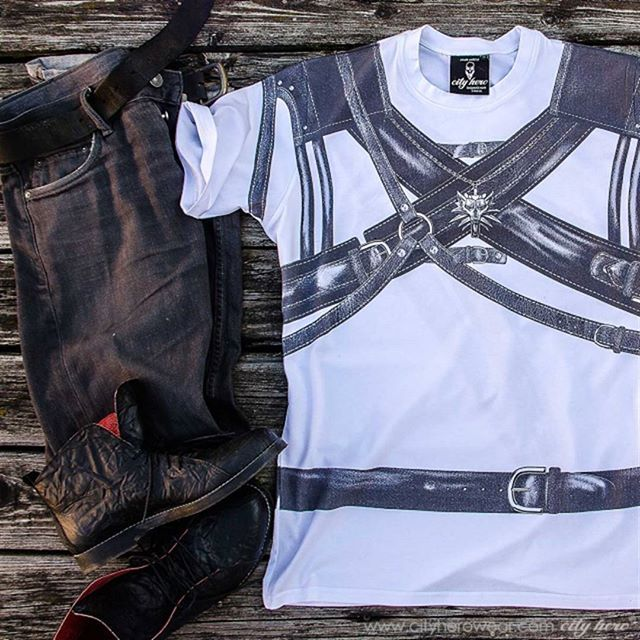 Feel yourself like Gerald from Rivia? Why not! T-shirt The witcher belts 1,999 руб | 35,99 EUR #witcher  #cityhero