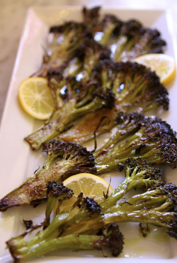 Roasted broccoli with a lemon twist