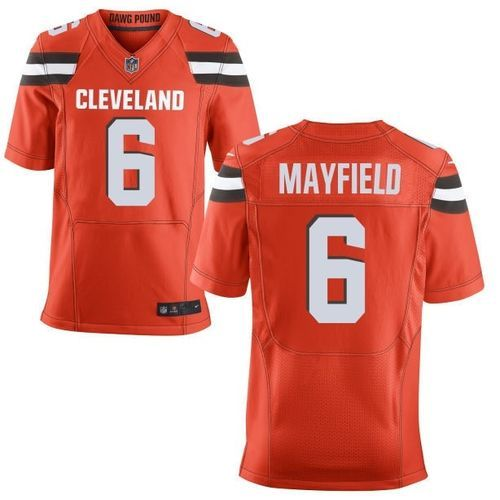 807173ae7a9 Cleveland Browns Baker Mayfield #6 NFL Replica Football Jersey (Stitched  #'s)