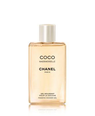 CHANEL COCO MADEMOISELLE Foaming Bath Gel $55.00 Moisturizing and cleansing gel leaves skin lightly fragranced with the feminine and sexy, young and exciting scent. Produces a rich, creamy foam that cleanses the skin gently, turning the bath or shower into a refreshing, relaxing environment.