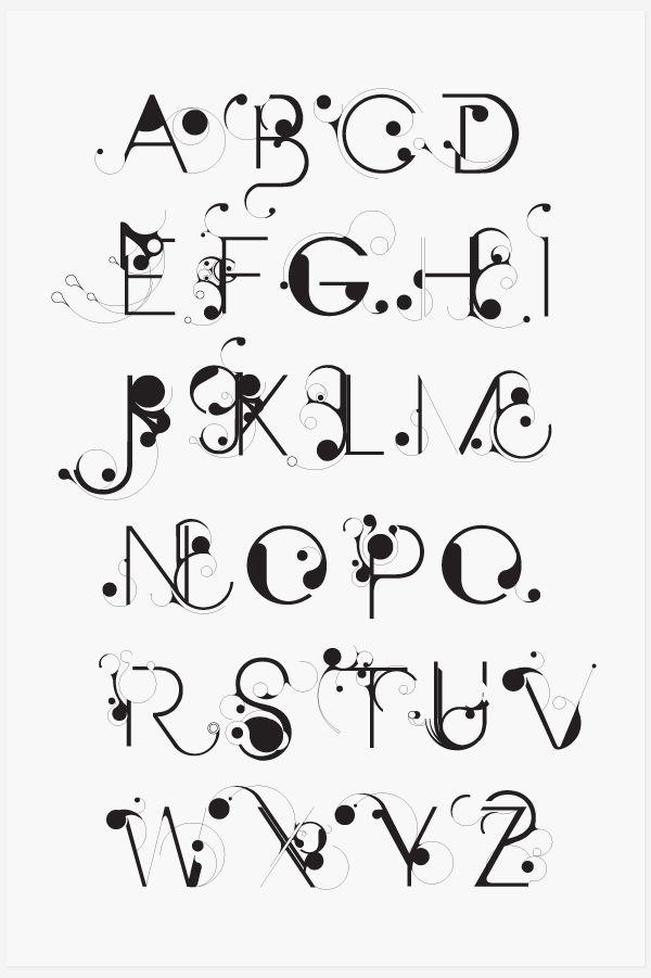 Bloob / art nouveau text / designspiration