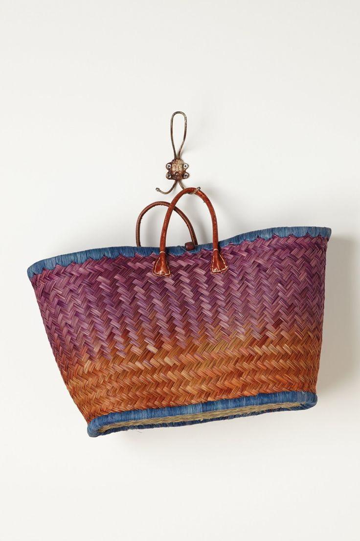 Ombre Straw Tote - Anthropologie.com  Cool summer bag.  Picture it with simple white t-shirt and rolled jeans. Nice.