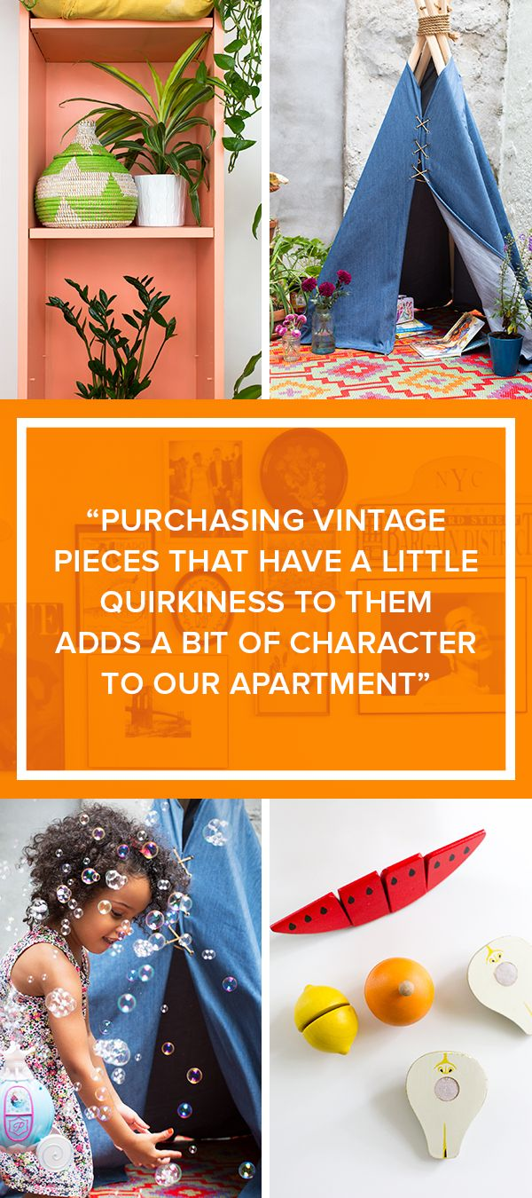Blogger LaTonya Staubs lets TODAY peek inside her bright and colorful Brooklyn home. It's bursting with charisma. LaTonya credits her vintage pieces for giving her apartment it's vibrant character and charm.