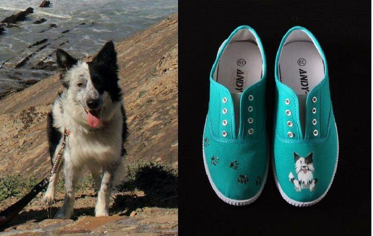 Ahora en Lolitaluna puedes conseguir unas zapatillas personalizadas con la imagen de tu mascota!!. En estas os presentamos a KAY