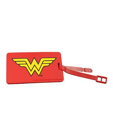 Another great find on #zulily! Wonder Woman Luggage Tag Set #zulilyfinds
