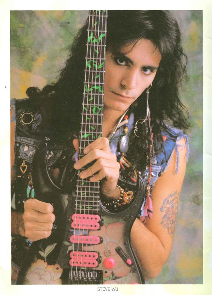 Great pic of Steve! From the 1988 Ibanez catalog.