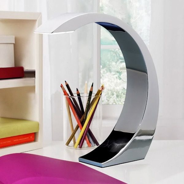 LumiSource Element Curve Touch Chrome Arc Table Lamp by LumiSource, Inc.