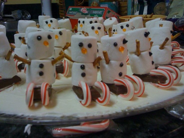 ❈ :-) awesome snowman Christmas treat