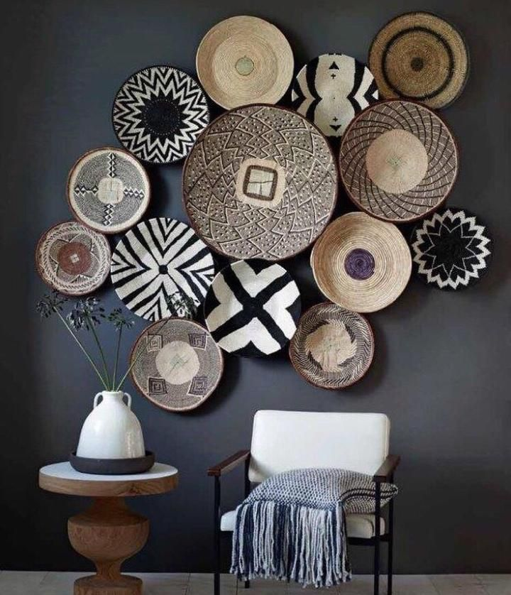 African Basket | Rwanda Baskets | Woven Basket | Black & White