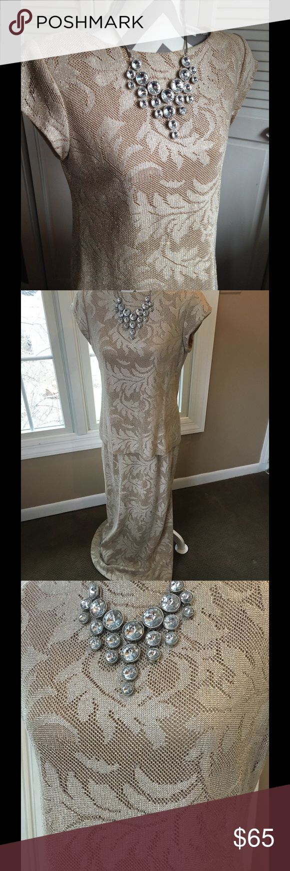 Wedding attire Gorgeous gold evening gown/mother of bride. huey waltzer for saks fifth avenue Dresses Wedding