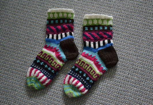 Fair isle socks by Lankatarina