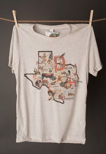 "This tee describes Texas to a T! Great souvenir shirt or for the avid Texan! All tees are made from high quality materials. See size chart before ordering. Unisex 3413/3415 Chest Size X-SMALL 31""-33"""