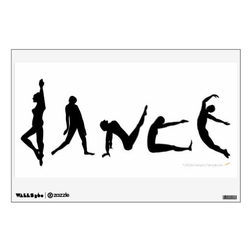 Dance Dancers Silhouettes Dancing Wall Decal