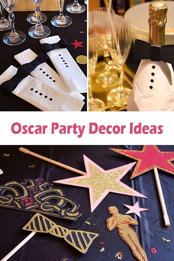 Oscar Party Decor Ideas With Cricut