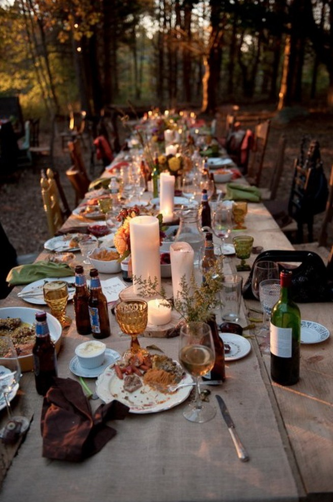 Wine Dinner Party Ideas Part - 33: All It Takes Is Some Candles. Very Long Table With Mismatched Chairs For  Outdoor Garden Party Dinner