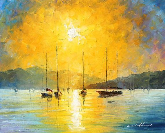 Original Recreation Oil Painting on Canvas  This is the best possible quality of recreation made by Leonid Afremov in person    Title: Baja