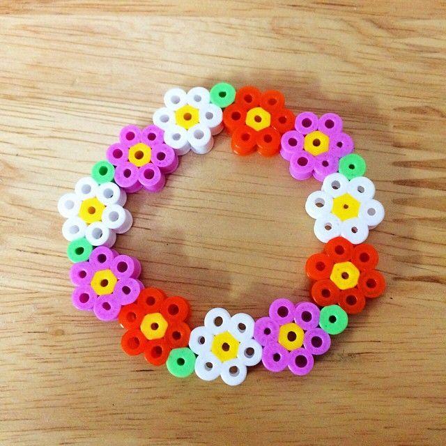 Spring flower wreath perler beads by myjsi000