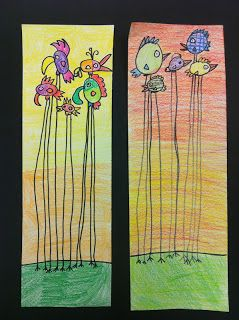 Art @ Massac: 2nd Grade // long leg birds