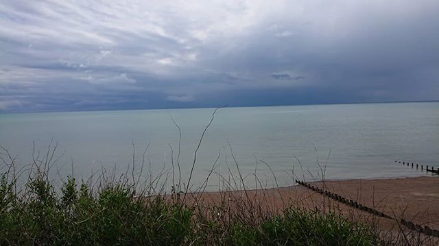 Rather Dark Clouds Over The Channel Bexhill Galleyhill Greyclouds Beach Grey Clouds Clouds Dark Clouds
