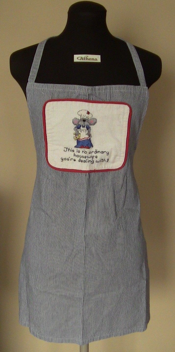Country Kitchen Apron Cook Food Size 10 Chef Clothing Cover Smock Grilling Home | eBay