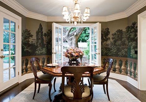 17 best images about french hand blocked wallpaper on for Wallpaper traditional home