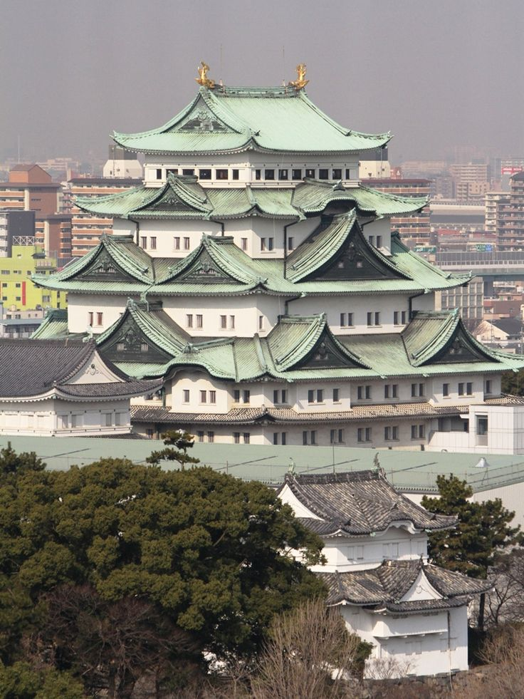 "Nagoya Castle, Aichi, Japan 名古屋城. So much more beautiful than cement and brick ""modern"" buildings."