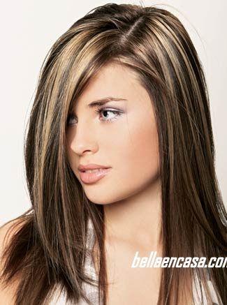 Mechas y rayos en el cabello con la técnica estrella ~ Bella en Casa.com
