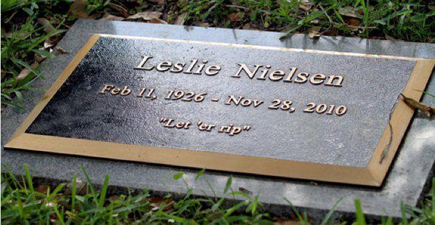 Leslie Nielsen put a fart joke on his tombstone