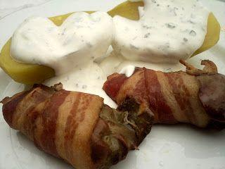 Rubin Konyhája: Baconben sült csirkemáj kapros-tejfölös krumplival...