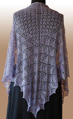 Bella_gradient_medium free knit lace pattern shawl wrap