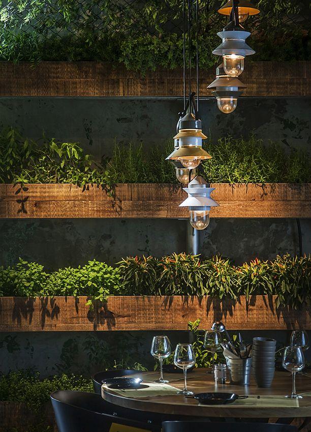 Segev Kitchen Garden Restaurant. Orly Avron Alkabes Lighting Design, Design: Studio Yaron Tal, Photography: Yoav Gurin