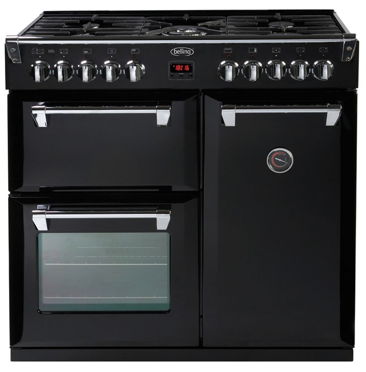 Freestanding Range Cookers Uk Part - 22: Belling Richmond 90cm Dual Fuel Range Cooker - Black- Main Multifunction  Electric Oven - 9 Functions Giving Ultimate Flexibility Including Fan, Intu2026