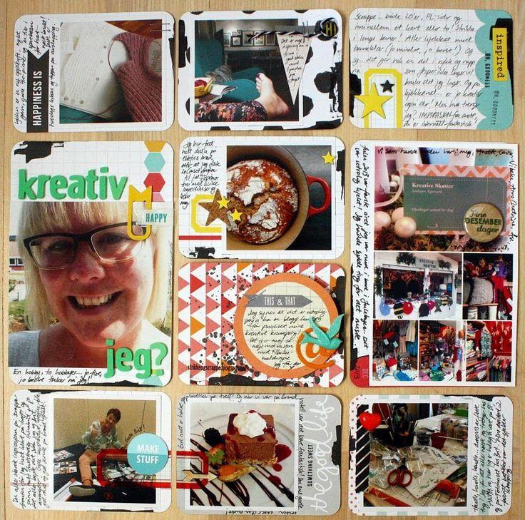 """Andrine og Marens Landhandleri - Blog - """"Kreativ jeg?"""" page created by Dt Linda."""