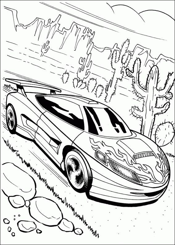 Ausmalbilder Hot Wheels Fahrzeuge 01 | Pintar e colorir ...