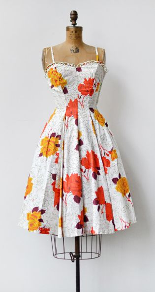vintage 1950s dress | Roseraie di Marne Dress from Adored Vintage #1950s #50s #v…