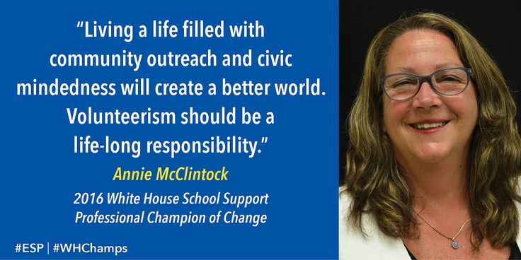 Champions of Change | Annie McClintock—Northport, New York