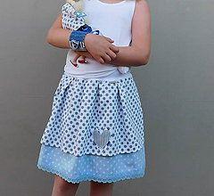 Detské oblečenie - La Mer...suknička 9-12R - 8241237_