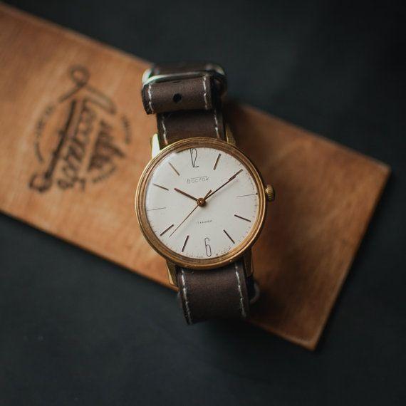 Original watch Vostok, mechanical watch, soviet watch, mens watch, ladies watch, ussr watch, watch men, white watch, men watch