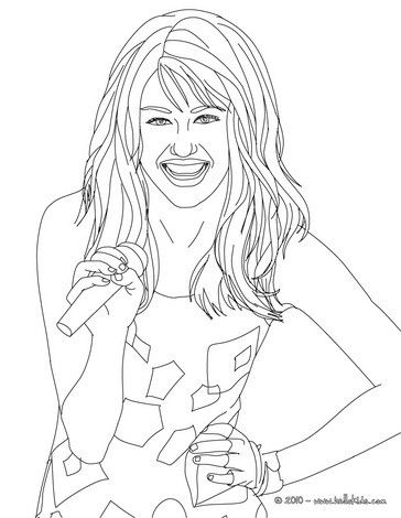 Miley Cyrus Happy Coloring Page More Miley Cyrus Content On