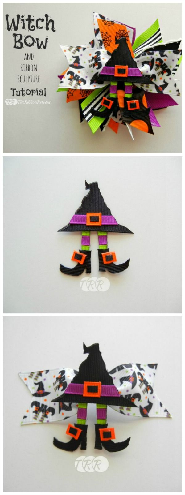 Witch Bow and Ribbon Sculpture - The Ribbon Retreat Blog